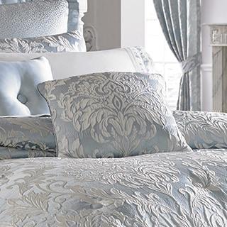 Five Queens Court Faith Blue 18-inch Square Pillow