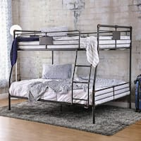 Furniture of America Herman Industrial Full over Queen Bunk Bed
