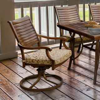 Furniture of America Mesa Contemporary Metal Brown Cushioned Patio Rocking Chair (Set of 2)