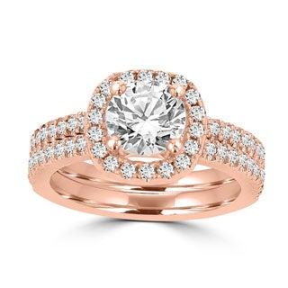 14k Rose Gold 1 3/4ct TDW La Vita Vital Bridal Set (G-H, SI1-SI2)