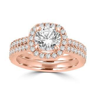 La Vita Vital 14k Rose Gold 1 3/4ct TDW Diamond Bridal Set|https://ak1.ostkcdn.com/images/products/P19654914m.jpg?impolicy=medium