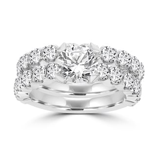 La Vita Vital 14k White Gold Diamond 3 2/5ct TDW Bridal Set