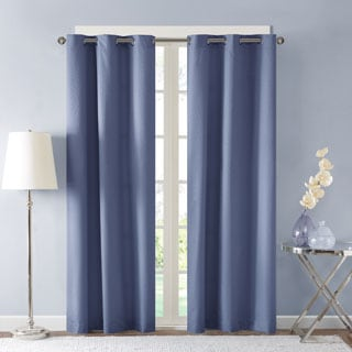 Madison Park Essentials Tira Jacquard Room Darkening Window Curtain Pair