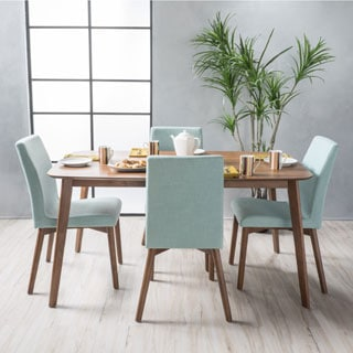 Orrin Mid Century 5 Piece Rectangle Dining Set By Christopher Knight Home
