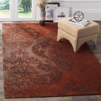 Safavieh Classic Vintage Rust/ Brown Cotton Distressed Rug - 4' x 6'