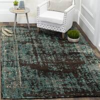 Safavieh Classic Vintage Teal/ Brown Cotton Distressed Rug (4' x 6')