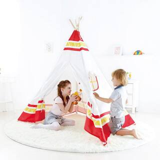 Hape Polyurethane Teepee Tent Playset|https://ak1.ostkcdn.com/images/products/P19669754p.jpg?impolicy=medium