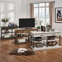 Barnstone Cornice Drawers Media TV Stand Console by iNSPIRE Q Artisan