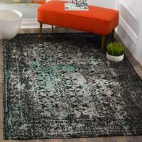 Safavieh Classic Vintage Navy/ Teal Cotton Distressed Rug - 8' x 10'