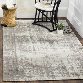 Safavieh Classic Vintage Silver/ Ivory Cotton Distressed Rug (5' x 8')
