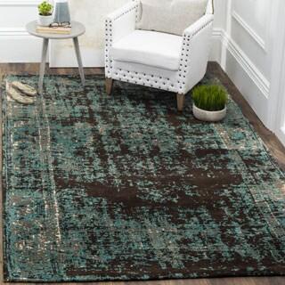 Safavieh Classic Vintage Teal/ Brown Cotton Distressed Rug (5' x 8')