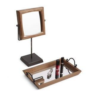 Lonestar Mirrored Vanity Tray