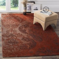Safavieh Classic Vintage Rust/ Brown Cotton Distressed Rug - 3' x 5'