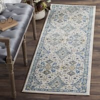 Safavieh Evoke Vintage Ivory / Light Blue Distressed Rug - 2' 2 x 9'