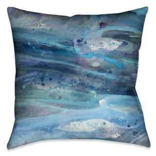 Laural Home Blue Waves Decorative Throw Pillow
