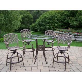 Lattice Aluminum 5-piece Bar-height Outdoor Dining Set