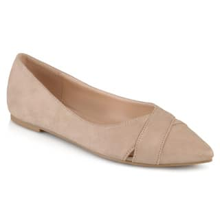 Journee Collection Women's 'Winslo' Faux Suede Pointed Toe Flats|https://ak1.ostkcdn.com/images/products/P19749339p.jpg?impolicy=medium