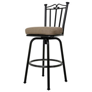 Cadiz Bronze Finish Aluminum and Polysynthetic Fiber 30-inch Bar Stool