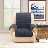 Shop Sure Fit Soft Suede Pet Cover Wing Chair Recliner