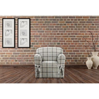 Sure Fit Highland Holiday Plaid Chair Slipcover