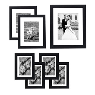 7-piece Wall Frame Set for One 8 x 10-inch Two 5 x 7-inch, and Four 4 x 6-inch Photos