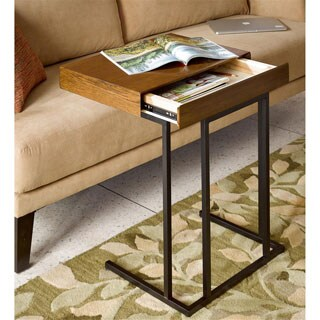 INK+IVY Wynn Pecan Pull Up Table