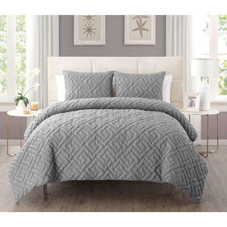 Laurel Creek Ainsley 3-piece Embossed Reversible Down Alternative Comforter Set