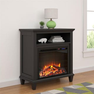 Ameriwood Home Ellington Electric Fireplace Accent Table 32-inch TV Stand