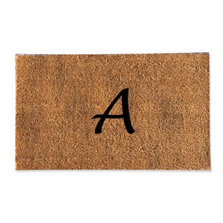A1HC First impression Plain Coir Monogrammed Doormat (18 x 30)