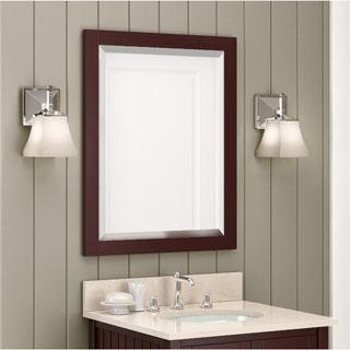 Alaterre 24-inch Espresso Wood Vanity Mirror - N/A