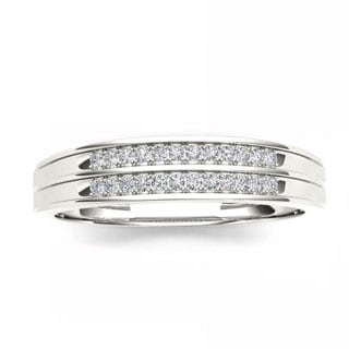 De Couer S925 Sterling Silver 1/6ct TDW Diamond Men's Band (H-I, I2)