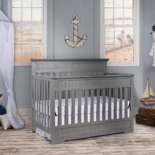 Dream On Me Chesapeake Storm Grey 5 In 1 Convertible Crib