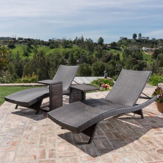 Toscana Outdoor 2 Piece Wicker Adjustable Chaise Lounge