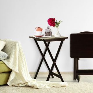 Solid Wood 5 Piece Tray Table Set