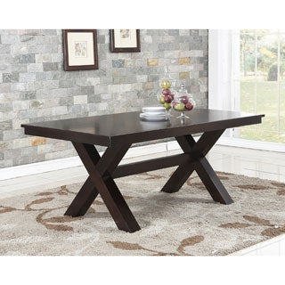 Abbyson Clarkston Espresso Rubberwood Dining Table