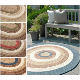 Colonial Mills 'Racetrack II' Multicolored Reversible Round Braided Rug (8' x 10')