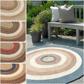 Colonial Mills 'Racetrack II' Multicolor Polypropylene Reversible Braided Rug (4' x 6')