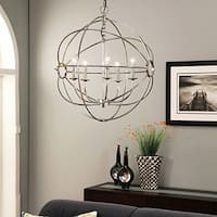 Abbyson Chandler 5-light Chrome Orb Chandelier
