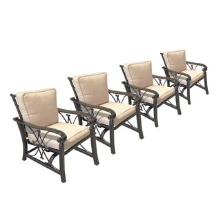 Aspen Deep Seat Spring Rocking Chairs (Set of 4)