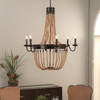 Abbyson Bedford Bronze 6-light Chandelier