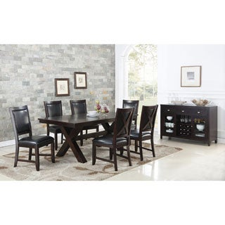 Abbyson Clarkston 8 Piece Espresso Dining Set