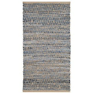 Safavieh Hand-Woven Cape Cod Natural/ Blue Jute Rug (2' x 4')