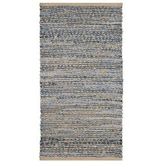 Safavieh Hand-Woven Cape Cod Natural/ Blue Jute Rug (2' x 4')