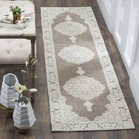 "Safavieh Hand-Woven Marbella Flatweave Light Grey/ Ivory Chenille Rug - 2'3"" x 4'"