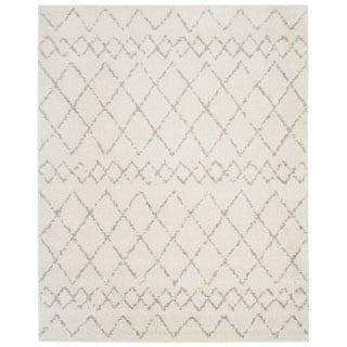 Safavieh Berber Shag Tribal Cream/ Light Grey Shag Rug (8' x 10')