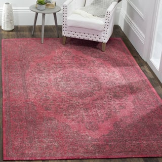 Safavieh Classic Vintage Overdyed Fuchsia Cotton Distressed Rug (9' x 12')