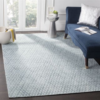 Safavieh Mirage Contemporary Handmade Indigo Wool Rug (9' x 12')