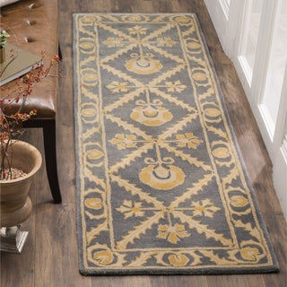 Safavieh Hand-Woven Bella Blue/ Gold Wool Runner (2' 3 x 7')