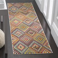 Safavieh Monaco Bohemian Polka Dot Multi/ Beige Distressed Runner Rug