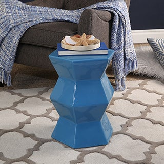 Abbyson Tokyo Ceramic Garden Stool, Blue